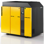 Oil-free rotary screw compressors with integrated compressed air dryer
