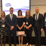 L to R: Tom Lewis from FermenTasmania, Jacqueline Brinkman from Economic Development Australia, Senator the Honourable Zed Seselja, Mirjana Prica from FIAL, Nicola Watts from The East Gippsland Food Cluster, Ted O'Brien MP, and Mike Goodman from Central Coast Industry Connect.