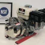 FDA grade stainless steel pump created for drinking water systems