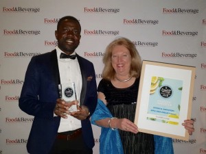 Botanical Innovations won the Ingredient Innovation award. The team, Frederick Attah Agyei (left) and Kerry Ferguson received the award.